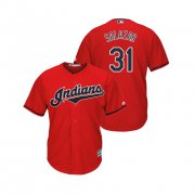 Wholesale Cheap Indians #31 Danny Salazar Scarlet Alternate 2019 Cool Base Stitched MLB Jersey