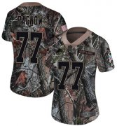 Wholesale Cheap Nike Lions #77 Frank Ragnow Camo Women's Stitched NFL Limited Rush Realtree Jersey