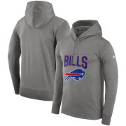 Wholesale Cheap Buffalo Bills Nike Sideline Property of Performance Pullover Hoodie Gray