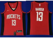 Wholesale Cheap Rockets #13 James Harden Red Basketball Swingman Limited Edition Jersey