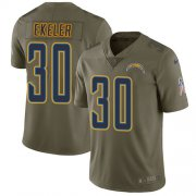 Wholesale Cheap Nike Chargers #30 Austin Ekeler Olive Men's Stitched NFL Limited 2017 Salute To Service Jersey