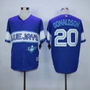 Wholesale Cheap Blue Jays #20 Josh Donaldson Blue Exclusive New Cool Base Stitched MLB Jersey
