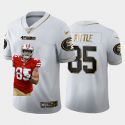 Cheap San Francisco 49ers #85 George Kittle Nike Team Hero 1 Vapor Limited NFL 100 Jersey White Golden