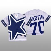 Wholesale Cheap NFL Dallas Cowboys #70 Zack Martin White Men's Mitchell & Nell Big Face Fashion Limited NFL Jersey