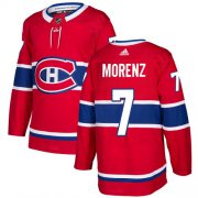 Wholesale Cheap Adidas Canadiens #7 Howie Morenz Red Home Authentic Stitched NHL Jersey