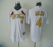 Wholesale Cheap Cardinals #4 Yadier Molina White(Gold No.) Cool Base Stitched MLB Jersey