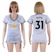 Wholesale Cheap Women's Manchester United #31 Matic Sec Away Soccer Club Jersey
