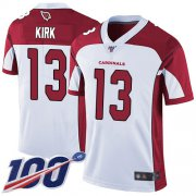 Wholesale Cheap Nike Cardinals #13 Christian Kirk White Men's Stitched NFL 100th Season Vapor Limited Jersey