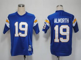 Wholesale Cheap Mitchell And Ness 1984 Chargers #19 Lance Alworth Light Blue Stitched NFL Jersey