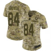 Wholesale Cheap Nike Colts #84 Jack Doyle Camo Women's Stitched NFL Limited 2018 Salute to Service Jersey