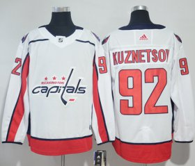 Wholesale Cheap Adidas Capitals #92 Evgeny Kuznetsov White Road Authentic Stitched NHL Jersey