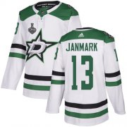 Cheap Adidas Stars #13 Mattias Janmark White Road Authentic Youth 2020 Stanley Cup Final Stitched NHL Jersey