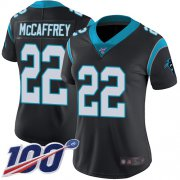 Wholesale Cheap Nike Panthers #22 Christian McCaffrey Black Team Color Women's Stitched NFL 100th Season Vapor Limited Jersey