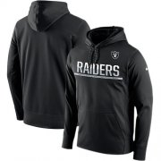 Wholesale Cheap Men's Las Vegas Raiders Nike Black Sideline Circuit Pullover Performance Hoodie