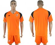 Wholesale Cheap Sevilla Blank Orange Goalkeeper Soccer Club Jersey