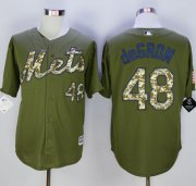 Wholesale Cheap Mets #48 Jacob DeGrom Green Camo New Cool Base Stitched MLB Jersey