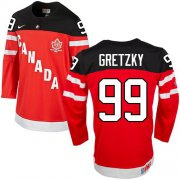 Wholesale Cheap Olympic CA. #99 Wayne Gretzky Red 100th Anniversary Stitched NHL Jersey