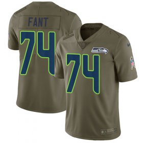 Wholesale Cheap Nike Seahawks #74 George Fant Olive Men\'s Stitched NFL Limited 2017 Salute to Service Jersey