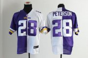 Wholesale Cheap Nike Vikings #28 Adrian Peterson Purple/White Men's Stitched NFL Elite Split Jersey