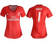 Wholesale Cheap Women's Real Madrid #1 Navas Third Soccer Club Jersey