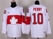 Wholesale Cheap Olympic 2014 CA. #10 Corey Perry White Stitched NHL Jersey