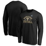 Wholesale Cheap New Orleans Saints 2019 NFL Playoffs Bound Hometown Checkdown Long Sleeve T-Shirt Black