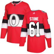 Wholesale Cheap Adidas Senators #61 Mark Stone Red Authentic 2017 100 Classic Stitched Youth NHL Jersey