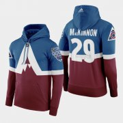 Wholesale Cheap Adidas Colorado Avalanche #29 Nathan Mackinnon Men's Burgundy 2020 Stadium Series Hoodie