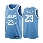 Wholesale Cheap Nike Lakers #23 LeBron James Blue Minneapolis All-Star Classic NBA Jersey