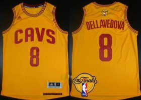 Wholesale Cheap Men\'s Cleveland Cavaliers #8 Matthew Dellavedova 2015 The Finals New Yellow Jersey