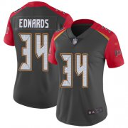Wholesale Cheap Nike Buccaneers #34 Mike Edwards Gray Women's Stitched NFL Limited Inverted Legend Jersey