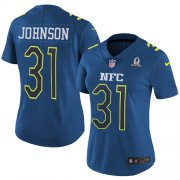 Wholesale Cheap Nike Cardinals #31 David Johnson Navy Women's Stitched NFL Limited NFC 2017 Pro Bowl Jersey
