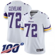 Wholesale Cheap Nike Vikings #72 Ezra Cleveland White Youth Stitched NFL 100th Season Vapor Untouchable Limited Jersey