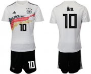 Wholesale Cheap Germany #10 Ozil White Home Soccer Country Jersey