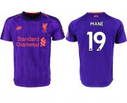 Wholesale Cheap Liverpool #19 Mane Away Soccer Club Jersey