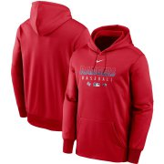 Wholesale Cheap Men's Texas Rangers Nike Red Authentic Collection Therma Performance Pullover Hoodie