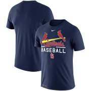 Wholesale Cheap St. Louis Cardinals Nike Practice Performance T-Shirt Navy