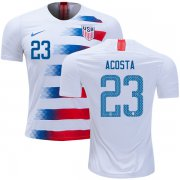 Wholesale Cheap USA #23 Acosta Home Soccer Country Jersey