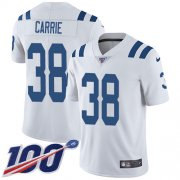 Wholesale Cheap Nike Colts #38 T.J. Carrie White Youth Stitched NFL 100th Season Vapor Untouchable Limited Jersey