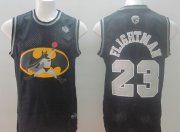 Wholesale Cheap Chicago Bulls #23 Flightman Black Swingman Jersey