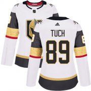 Wholesale Cheap Adidas Golden Knights #89 Alex Tuch White Road Authentic Women's Stitched NHL Jersey