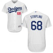 Wholesale Cheap Dodgers #68 Ross Stripling White Flexbase Authentic Collection Stitched MLB Jersey