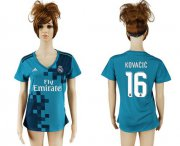 Wholesale Cheap Women's Real Madrid #16 Kovacic Sec Away Soccer Club Jersey