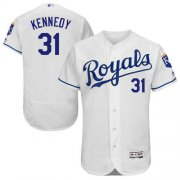 Wholesale Cheap Royals #31 Ian Kennedy White Flexbase Authentic Collection Stitched MLB Jersey