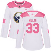 Wholesale Cheap Adidas Sabres #33 Colin Miller White/Pink Authentic Fashion Women's Stitched NHL Jersey