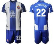 Wholesale Cheap Espanyol #22 M.Hermoso Home Soccer Club Jersey