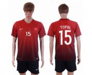 Wholesale Cheap Turkey #15 Topal Home Soccer Country Jersey