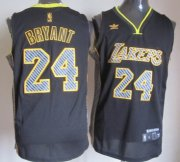 Wholesale Cheap Los Angeles Lakers #24 Kobe Bryant Black Electricity Fashion Jersey