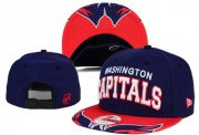 Wholesale Cheap NHL Washington Capitals Team Logo Navy Snapback Adjustable Hat