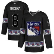 Wholesale Cheap Adidas Rangers #8 Jacob Trouba Black Authentic Team Logo Fashion Stitched NHL Jersey